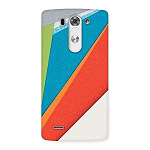 Delighted HexCol Pattern Multicolor Back Case Cover for LG G3 Mini