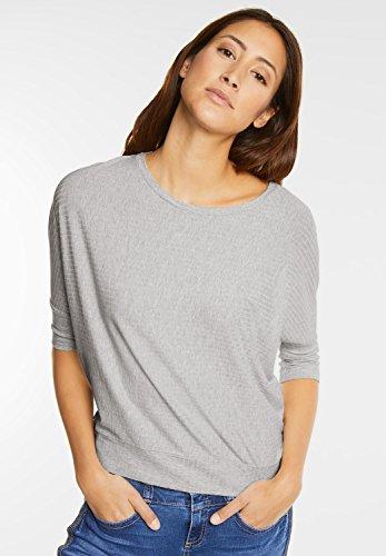 Street One Damen Shirt mit Strukturstreifen cyber grey melange (grau)