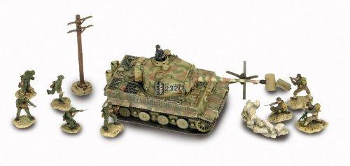 Unimax Forces of Valor 432385404-Juego en alemán Tiger con Soldados, 1: 72