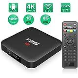 Android TV Box-TV Box Android 7.1 Quad Core 1GB RAM/8GB ROM Amlogic S905W Soporte 2.4GHz WiFi H.265 4K HDMI DLNA Smart TV Box
