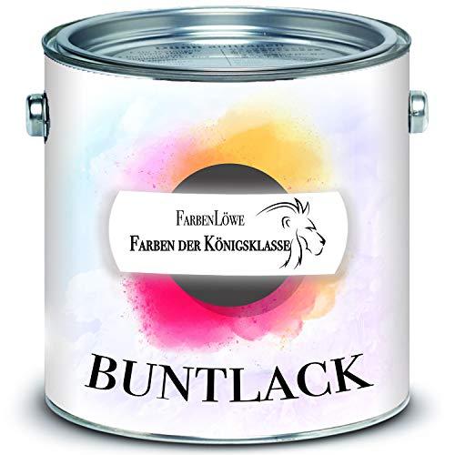 FARBENLÖWE hochmoderner Buntlack Decklack Metalllack Metallfarbe FARBAUWAHL (2,5 L, Lichtgrau RAL 7035)