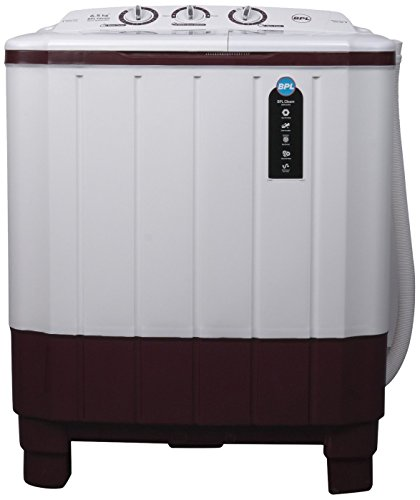 BPL 6.5 kg Semi-Automatic Top Loading Washing Machine (BSATL65N1, Maroon)