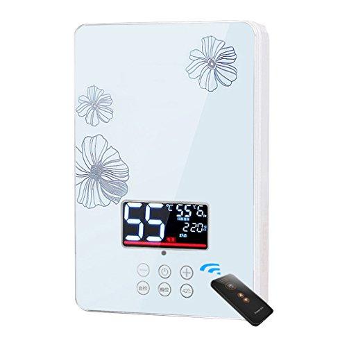 Roscloud@ Elektrischer Warmwasserbereiter Sofortiger Duschpaneel Installationssatz Durchlauferhitzer 6KW 220V Wandmontierter elektrischer Warmwasserbereiter für Badezimmer-Küche