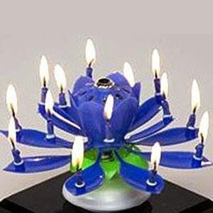 Liroyal The Amazing Happy Birthday Music Candle Novelty Blooming Lotus Flower Party Lighting Decorat