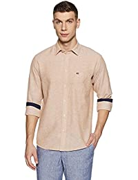 Arrow Sports Men's Plain Regular Fit Cotton Casual Shirt