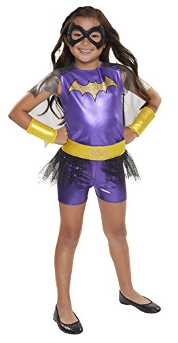 s Superhero/Mädchen/Batgirl Everyday verkleiden Outfit (One Size) (Kinder Catwoman Outfit)