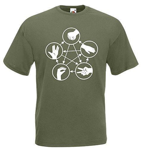 Big Bang Theory Stein Schere Papier T-Shirt echse spock Shirt S-XXL -
