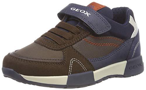 Geox Jungen J ALFIER Boy D Sneaker, Braun (Brown/Navy C0947), 33 EU