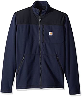 Carhartt Mens Fallon Zip Relaxed Water Repel Fleece Sweater