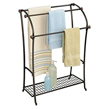 MetroDecor mdesign yorkmetalsplitbronze, stahl, Split Bronze, Towel Hanging Rack - Chrome Bath Caddy