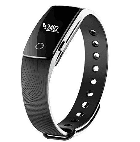 Willful SW320 Bluetooth Fitness Tracker Sportuhren Schrittzähler Armband Mit Uhr Anruf Text Whatsapp Push Musik Kamera Steuerung Kalorienzähler Schlafüberwachung Vibrationswecker Kompatibel mit Samsung iPhone HTC Android IOS für Frauen Herren (Ohne Pulsmesser)