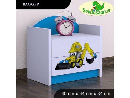 Nachttisch für Kinder - Bagger, verschiedene Farben (Blau)