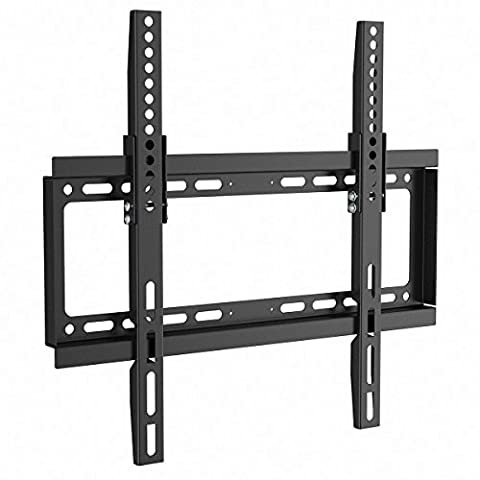 1home TV Wall Bracket Mount Tilt black fits 17-50 inches Plate Screen TVs LCD LED Plasma TV of ALL MAKES ALL