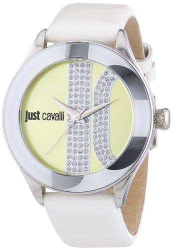 Just Cavalli R7251592501 – Reloj para mujeres, correa de cuero color blanco