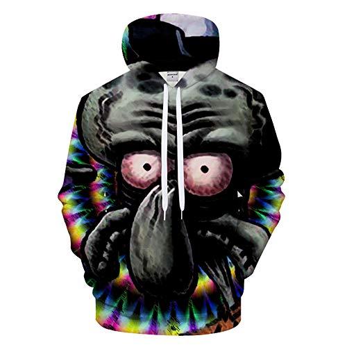 GJYOU Unisex 3D Druck Hoodies Sweatshirts Weihnachten Pullover Cartoon Druck Sweatshirt Kapuzenjacke Drawstring Long Sleevetops Spongebob Squarepants XS - Pullover Spongebob Hoodie