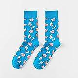 ASDFF Calzini da uomo calzini da tubo new fashion happy trend calzini da uomo banana banchi di personalità calzini di cotone paio di calze codice 04