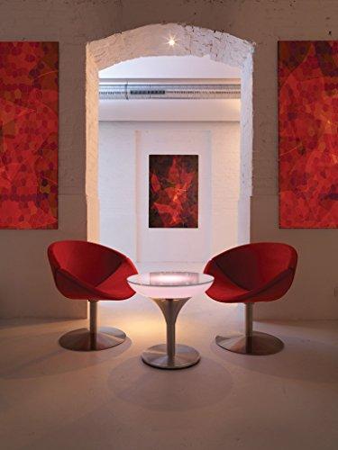 Moree Table Basse Lounge M 55 Outdoor - avec éclairage LED, Batterie et télécommande