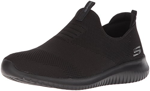 Skechers Women's Ultra Flex-First Take Slip On Trainers, Black Black BBK, 6 UK 39 EU