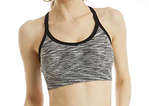 Ouno Damen Sport-BH, ohne Kabel, gepolstert, nahtlos, Komfort Yoga BH - Mehrfarbig - 70B 70C 70D 75B 75C 80A: M - 3