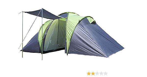 180x180x180 EXPLORER Zelt Sierra 6 Familienzelt mit 2 Schlafkabinen 520 x210x180cm 3+3 Personen 3000mm Wassers/äule Ring Pin System wettergesch/ützter Eingang Camping Outdoor Wandern Familie