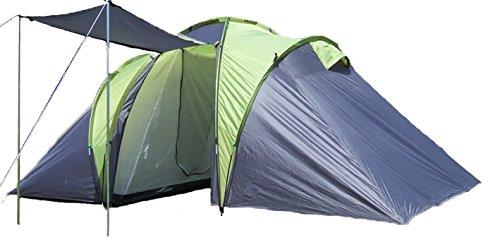 EXPLORER Zelt Sierra 6 Familienzelt mit 2 Schlafkabinen 520(180x180x180)x210x180cm 3+3 Personen 3000mm Wassersäule Ring Pin System wettergeschützter Eingang Camping Outdoor Wandern Familie (Zelt 2 Explorer)