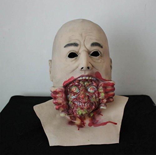 MNII Emulsion Glatze Große geister Maske Schreiend der Teufel könnte weinen Zombie COS Weinen Halloween Terror Biochemisch Zombie Kopfbedeckung- Lustige (Kinder Kostüme Gesicht Geist Furchtsame)