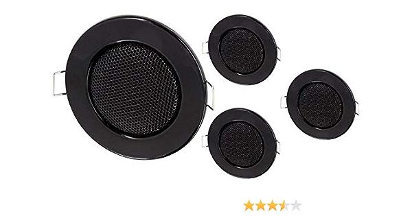 30Watt 60mm Mini Decken Lautsprecher schwarz einfach Einschrauben in die Decke!