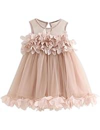 Kleid Baby,Binggong Baby Mädchen Mode Niedlich Prinzessin Kleid spitze Pageant Sleeveless Print Kleider (Sexy Rosa, 4T)