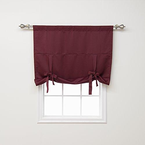 Best Home Fashion isoliert Blackout Schnürverschluss am Fenster Schatten–Steckrute–Tasche–burgund–106,7cm W x 160cm L–(1Panel)