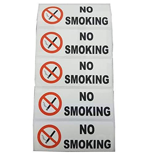 5x No Smoking stickers-colour-80X 30mm-health und Sicherheit, Auto, Sicherheit, Lager, Büro, Restaurant, Café, Arbeit, Taxi, Mini Cab, Coach, Minibus Schilder