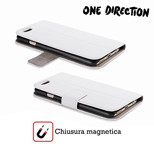 Offizielle One Direction Sofa Harry Made In The A.m. Brieftasche Handyhülle aus Leder für Apple iPhone 5 / 5s / SE Sticker W
