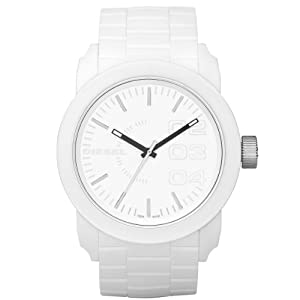 Reloj Diesel DZ1436 de cuarzo para hombre con correa de silicona, color blanco de Diesel
