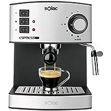 Solac CE4480 Espresso - Cafetera (capacidad, 19 bares, 1,25 litros,vaporizador)