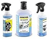 Kärcher 6.296-048.0 Felgenreiniger Premium RM 667 + Kärcher Insektenentferner 3-in1 Rm 618 6.295-761.0 + Kärcher Autoshampoo 3-in-1 RM 610 1 liter 6.295-750.0 (inkl. 1 liter Autoshampoo)
