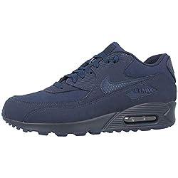 Nike Herren Men's Air Max '90 Essential Shoe Traillaufschuhe, Mehrfarbig Midnight Navy/Black 412, 41 EU