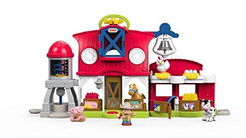 Fisher-Price FKD14 Little People Bauernhof Spielset mit Geräuschen inkl. 5 Spielfiguren und Tieren, ab 12 Monaten (Kinder Spielzeug Für Bauernhof)