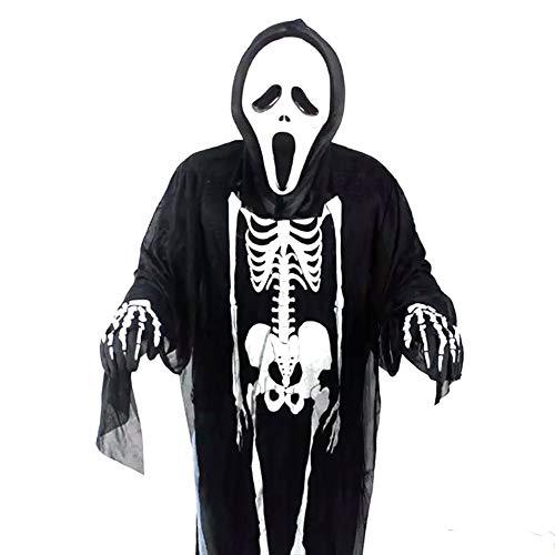 Halloween Deko Grusel Dekoration Set Maskerade Kostüm Halloween Kostüm Skelett Kostüm 1 Stück für Halloweendeko Make-up-Party Halloween Dekoration