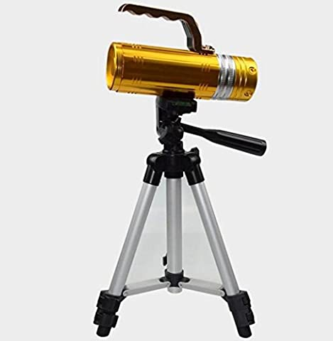 Camera tripod, 28cm Lightweight aluminum alloy fishing light bracket with Bag (silver)