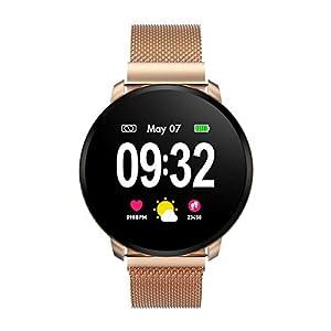 Smartwatch Fashion para Hombre Mujer Impermeable Reloj Inteligente Monitores de Actividad Fitness Tracker con Monitor de Sueño Pulsómetros Podómetro Compatible con iOS Android Huawei 4
