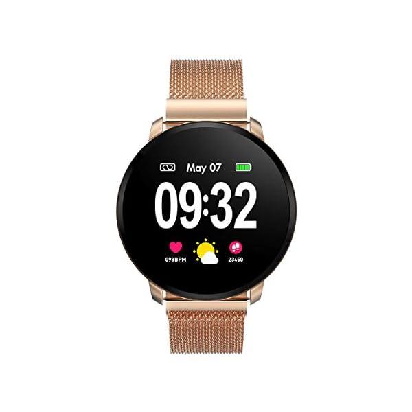 GOKOO Smartwatch Fashion para Hombre Mujer Impermeable Reloj Inteligente Monitores de Actividad Fitness Tracker con… 2