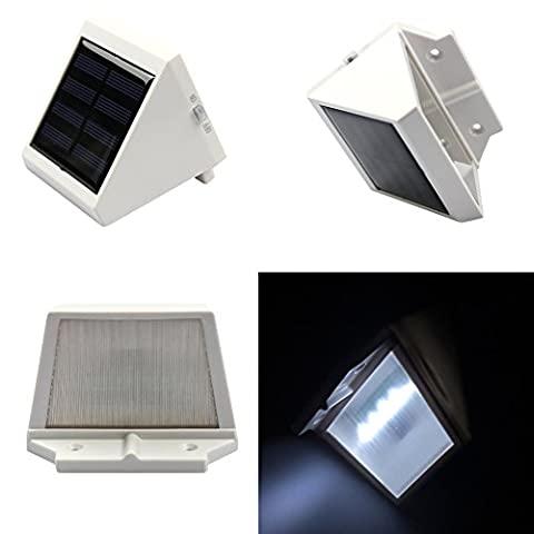LanLan Outdoor Solar Power Garden Corridor Street Triangle Wall Light Lamp 4 LEDs Environmental Wall
