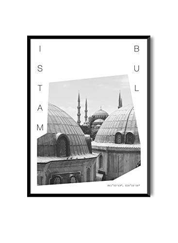 MILUKA Láminas Decorativas para enmarcar colección Coordinates (Láminas Ciudades - Viajes) | Estambul | Tamaño 50x70cm