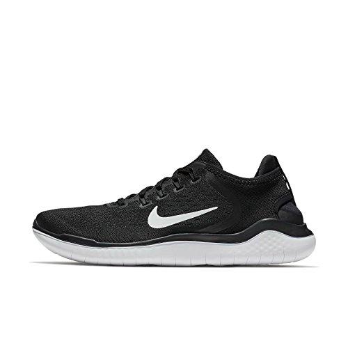 Nike Herren Free RN 942836-001 Mesh Laufschuhe, Schwarz (Black/White), 46 EU (Nike Schuhe Herren Free Run)