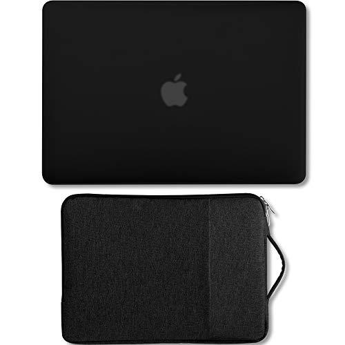 GMYLE MacBook Air 13-Zoll-Tasche A1466 / A1369 Ältere Version 2010-2017 2-in-1-Bundle, Hartplastikschale und 13-13,3-Zoll-Tragetasche mit Griff - Schwarzes Set (Pro 2010 13-zoll-fall Macbook)
