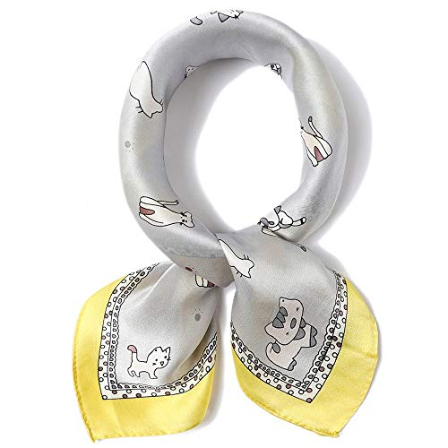 Reinigen, Satin-handtasche (Junjiagao Frau Seidenschal Square Schals Satin Bandana Hair Scarf Halstuch Wraps Handtasche (Farbe : 8, Größe : 53 * 53cm))
