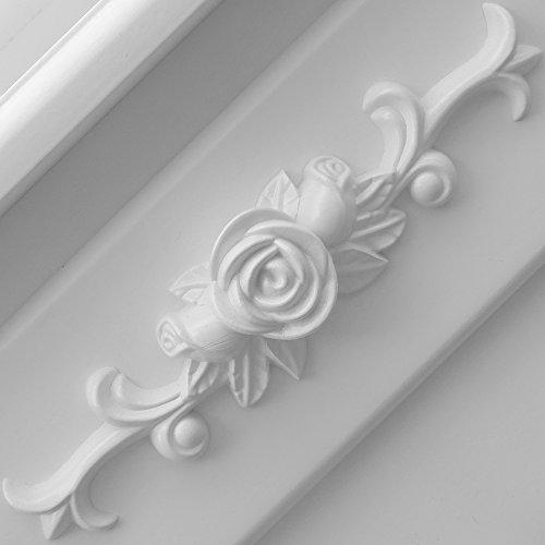 Schminktisch Hocker Kosmetiktisch Frisierkommode Frisiertisch Spiegel Lady Rose - 4