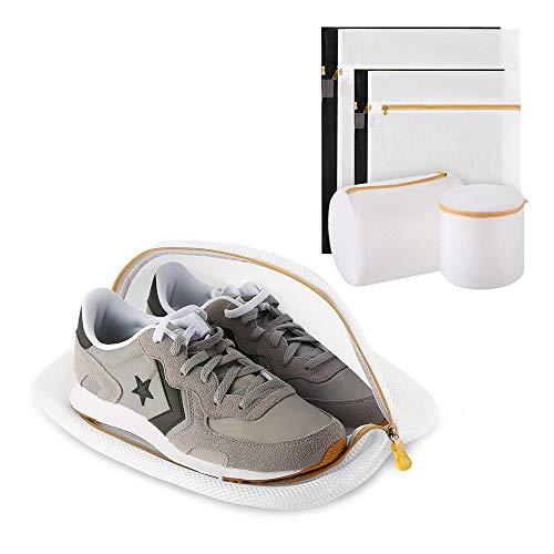 Ecooe 1 Wäschenetz für Schuhe/Sneaker mit 6 Wäschesack für Kleidung Pullover BHs