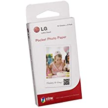 """- Zink Media-Papier Photo pour imprimante Photo de poche LG PD221 30 feuilles/2 """"x 3"""""""