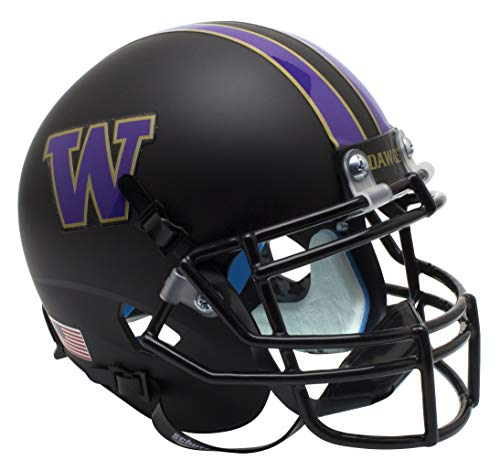 Schutt Washington Huskies matt schwarz Mini-Helm