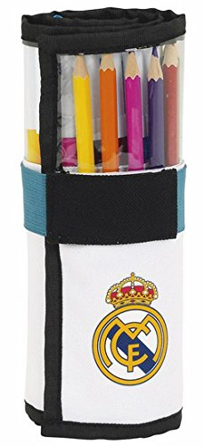 Real Madrid- Plumier Enrollable 27 Piezas (SAFTA 411754786), uacutenico